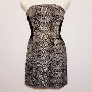 Speechless Bodycon Strapless Animal Print Dress